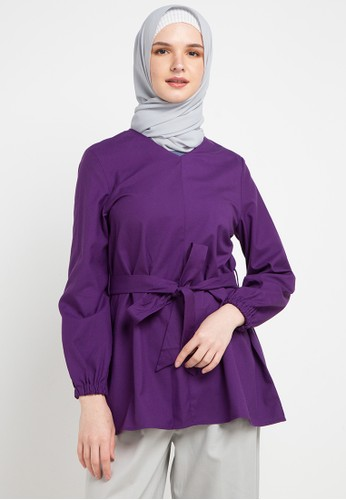 OMARA purple and multi Valeria Blouse C6E92AADF7A0B2GS_1