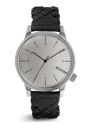 KOMONO black Winston Woven Black Watch KO163AC0T124MY_1