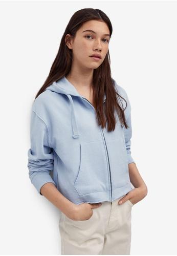 MANGO KIDS blue Hoodie Cotton Sweatshirt D5C4FKAB147877GS_1