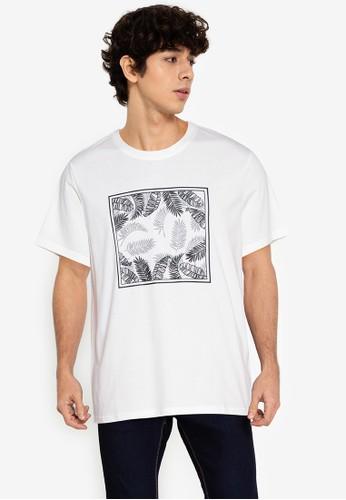 ZALORA BASICS white Foliage T-Shirt 2530BAA471B974GS_1