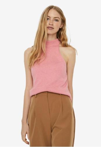 Vero Moda pink Knitted Sleeveless Top FEB9AAAB417972GS_1