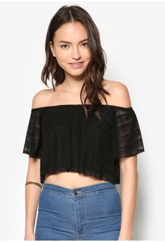 Lace Off Shoulder Tops