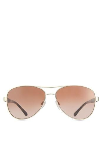 帆zalora時尚購物網評價布邊飾飛行員太陽眼鏡, 飾品配件, 飾品配件