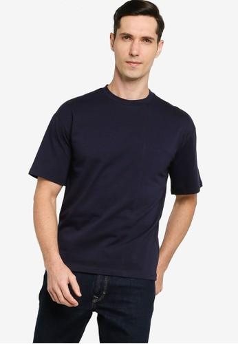 ZALORA BASICS navy Short Sleeve Cut & Sew T-shirt F36DAAA486B397GS_1