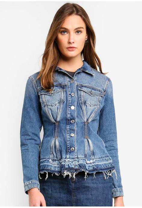 Buy Women Denim Jackets Online Zalora Malaysia