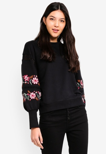 ONLY black Lisa O-neck Sweater 553ADAAC92C5D0GS_1