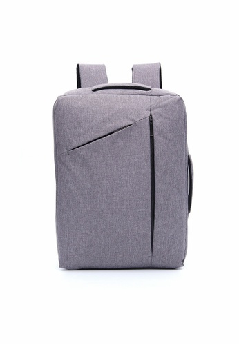 A FRENZ grey Convertible Multi-functional 2 in 1  Waterproof Laptop Briefcase Backpack  7B913AC17048E9GS_1