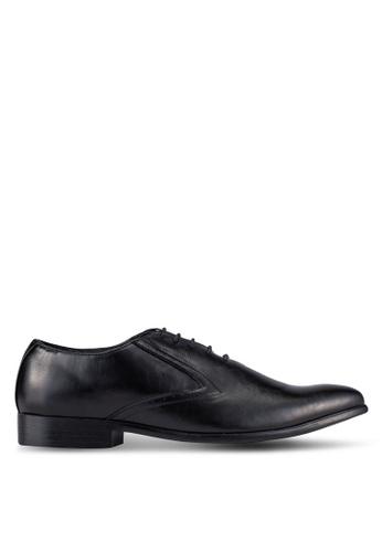 UniqTee black Lace Up Oxford Dress Shoes UN097SH0S21RMY_1