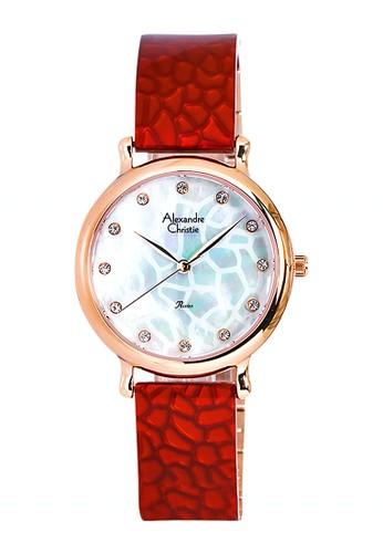 Alexandre Christie red Alexandre Christie Jam Tangan Wanita - Rosegold Red - Stainless Steel - 2609 LHBRGMSRE  C803FAC76262A4GS_1