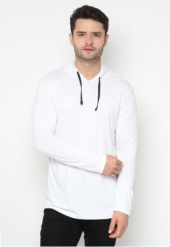 JOULDAS white Jouldas White Men Hoodie T-Shirt 04506AA8EC6D15GS_1