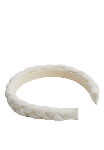MANGO KIDS white Braided Padded Headband D2C6EKC65188BDGS_1