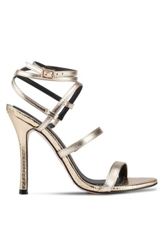 972aacc5588f River Island gold Whoop Strappy Skinny Heels EDE6FSH57688F5GS 1