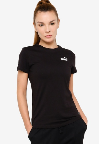 PUMA black Essentials Small Logo Women's Tee BAF48AA18F9E08GS_1