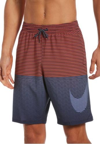 "Nike grey Nike Horizon Stripe Vital 9"" Volley Short E3C24US06118B1GS_1"