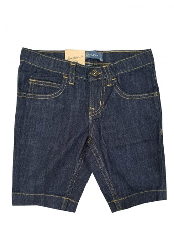 BOSSINI KIDS blue Cotton Twill Shorts CE903KAF323227GS_1