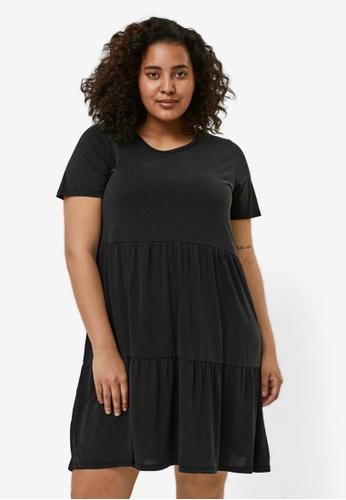 Vero Moda black Curve Short Sleeve Dress 3C515AA7FC8895GS_1