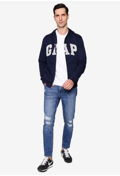 c48a005e9ef 43% OFF GAP Gap Arch Zip Hoody RM 189.00 NOW RM 107.90 Sizes XS S M L XL