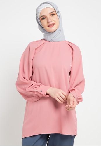 OMARA pink Kaley Blouse 2E683AA6455872GS_1