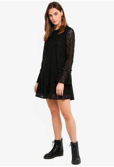 efbcc66fa5 50% OFF Sisley Contrast Ruffled Dress HK  1