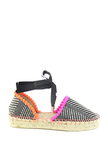London Rag orange Multicolor Ankle Wrap Up Sandal Shoes BD509SHF28E859GS_1
