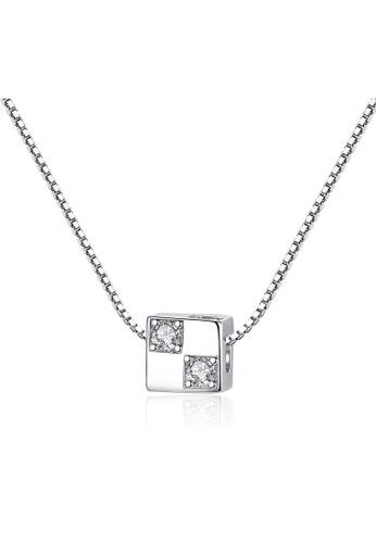 SUNRAIS silver Premium Silver S925 Silver Simple Design Necklace B2093AC882F7DFGS_1