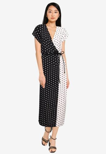 ZALORA BASICS multi Colourblock Wrap Dress 3667CAAE7A896AGS_1