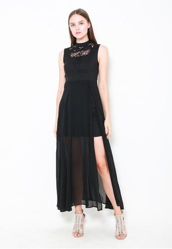 Leline Style black Eliana Crochet Dress 7BD46AA322A612GS_1