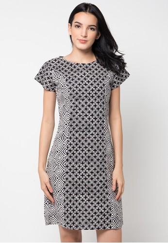 Dress Lengan Pendek Kombinasi
