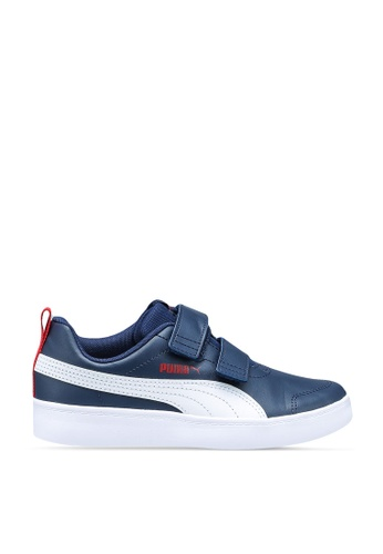 PUMA navy Sportstyle Core Courtflex Sneakers 15C83KSE465A4FGS_1