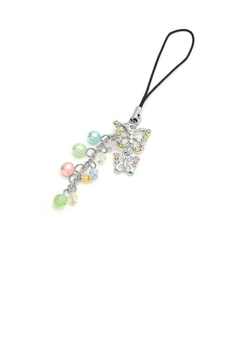 Glamorousky multi Butterfly Strap with Multi-colour Austrian Element Crystals and Multi-colour Bead 5989FAC3AF4D0BGS_1