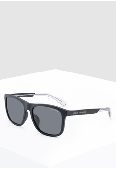 46749ae0a107 Armani Exchange black Armani 0AX4049SF Sunglasses 445CEGLA0A31B5GS 1