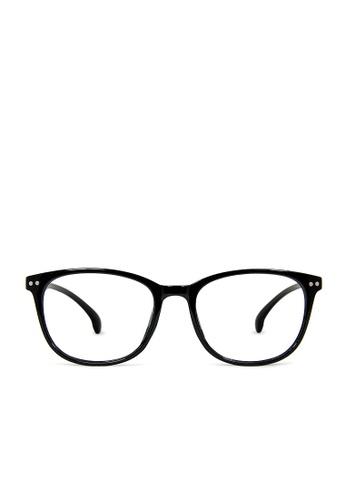 ASLLY black Wanderer│Anti-blue light glasses with black thick rectangle frame B3C76GLB1C0830GS_1