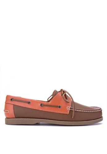 Brogue & Derby brown Deangelo Boat Shoes BR611SH0IJBSPH_1