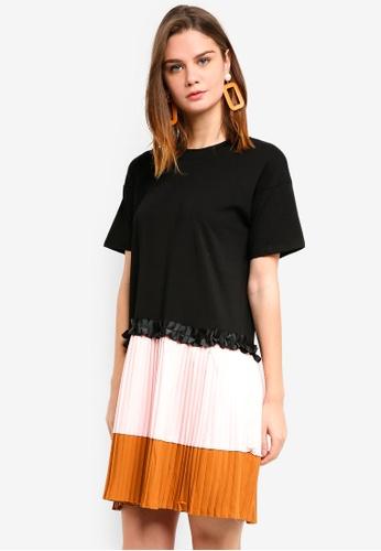 Haute Kelly black Whan Casual Pleated Dress 28131AA06D487CGS_1