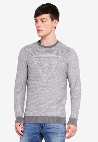 Guess 灰色 Guess Triangle Logo Sweater 60020AA98CD3E7GS_1