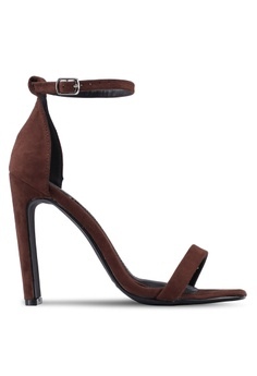 9729237acea3 MISSGUIDED brown Square Toe Illusion Heel Barely There Heels  D1EA5SH83AC4BBGS 1