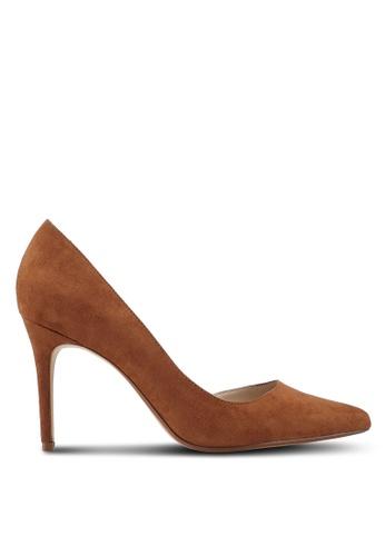 Mango brown Asymmetric Stiletto Heels 31F82SH5BEA4DDGS_1