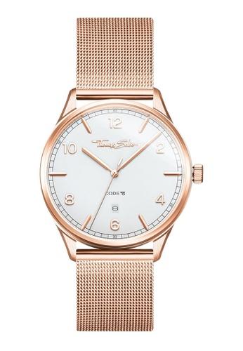 "THOMAS SABO beige Watch unisex ""CODE TS rose gold"" 30B04AC867E55AGS_1"