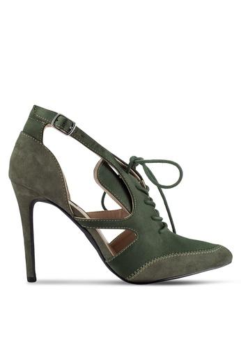 ZALORA green Lace Up Heels 547C9ZZ17434ABGS_1