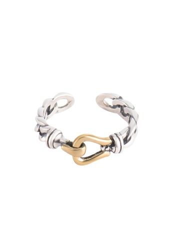 A-Excellence silver Premium S925 Sliver Geometric Ring 26B8CAC9124854GS_1