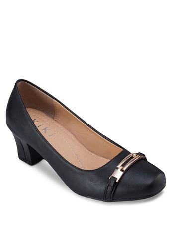扣環飾粗跟中跟鞋, 女esprit 衣服鞋, 厚底高跟鞋
