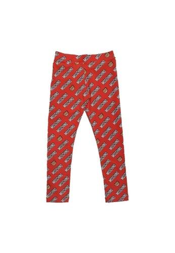MOSCHINO BABY KID TEEN red MOSCHINO GIRLS LEGGINGS 2FBEBKAF869602GS_1