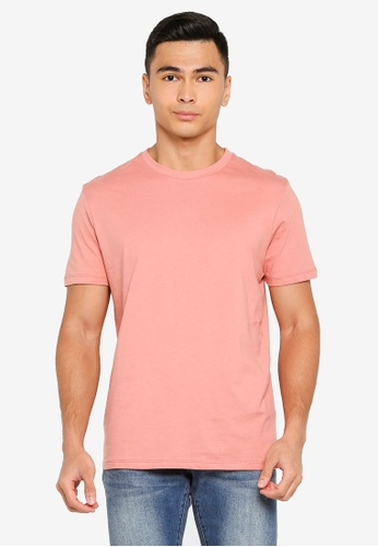 Electro Denim Lab pink Crew Neck Tee 21AF9AA08E9932GS_1