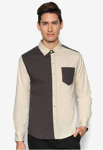 拼色長袖襯衫,esprit香港門市 服飾, 襯衫