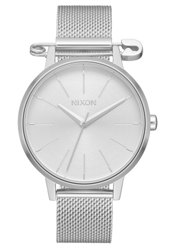 Nixon silver Kensington Milanese 37mm - Silver/ Safety (A12293225) 177B2AC71A6508GS_1