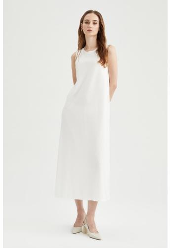 DeFacto beige Sleeveless Midi Dress 5DC02AAC4D2A36GS_1