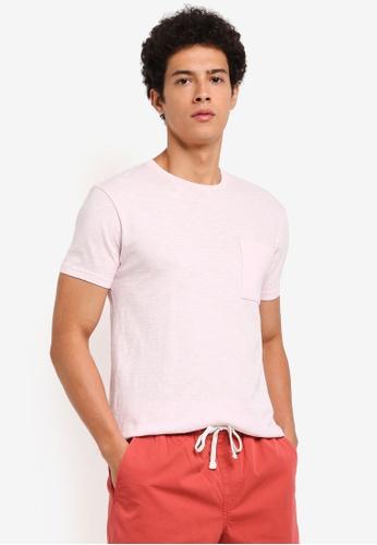 J.Crew pink Men's Slim Garment Dye Slub Jersey Tee E4FC6AAF6D7040GS_1