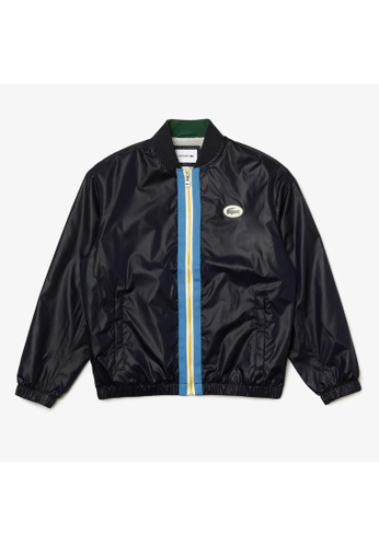 Lacoste navy Men's Heritage Contrast Band Canvas Bomber 2D56EAAE990649GS_1