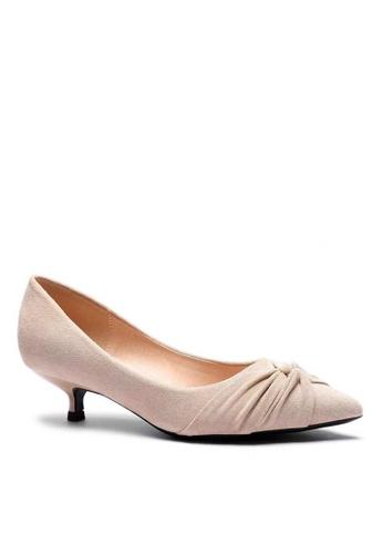 Twenty Eight Shoes 尖頭猄布小踭鞋 295-21 D23D2SH56AB11AGS_1
