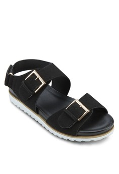 Buckle Strap Slingback Platform Sandals